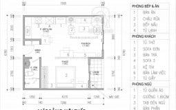 Tư vấn thiết kế nội thất cho căn hộ 45m2 phù hợp với chủ nhân độc thân