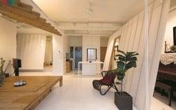 Những mặt phẳng nghiêng tạo nên sự độc đáo trong căn hộ nhỏ
