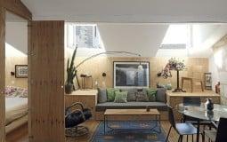 Khám phá căn hộ 50m² ấm cúng với chất liệu gỗ giản dị