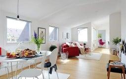 Cách bố trí căn hộ gác mái có bề ngang hẹp