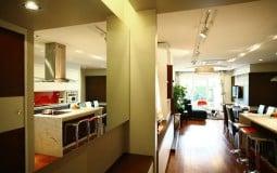 Căn hộ 130 m2 gọn gàng cho gia đình trẻ