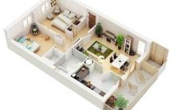 Bí quyết trang trí căn hộ 2 phòng ngủ tinh tế
