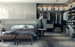 Đẹp sang chảnh mẫu thiết kế phòng ngủ kết hợp phòng thay đồ