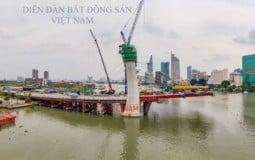 Cập nhật tiến độ xây dựng dự án cầu Thủ Thiêm 2 trong tháng 6/2020