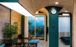 Nội thất căn hộ 63m2 biến tấu lạ mắt với kiến trúc mái vòm