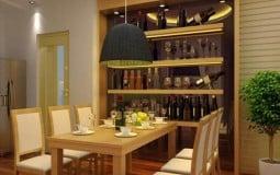 Kích thước tủ rượu âm tường tiêu chuẩn cho nhà đẹp