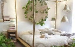 """10 ý tưởng """"thay áo mới"""" cho phòng ngủ với tấm gỗ pallet"""