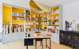 Văn phòng tại nhà phong cách Paris đầy cảm hứng