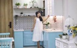 Khám phá vẻ dịu dàng, tươi mát của căn nhà màu xanh bạc hà