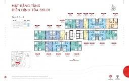 Cập nhật mặt bằng điển hình các toà S10 dự án The Origami Vinhomes Grand Park