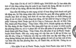 """Ninh Thuận: Phân lô bán nền trái phép, doanh nghiệp bị """"tuýt còi"""""""
