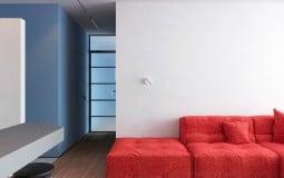 Khám phá căn hộ ấn tượng với hai gam màu đỏ xanh rực rỡ