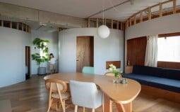 Rib Apartment – Căn hộ 74m2 đập bỏ toàn bộ tường ngăn để thiết kế hợp ý gia chủ