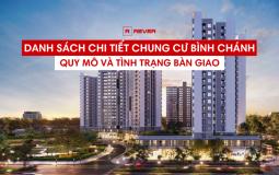 Thông tin tổng quan về quy mô và tình trạng bàn giao căn hộ chung cư Huyện Bình Chánh