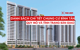 Thông tin tổng quan về quy mô và tình trạng bàn giao căn hộ chung cư Quận Bình Tân