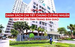 Thông tin tổng quan về quy mô và tình trạng bàn giao căn hộ chung cư Quận Phú Nhuận
