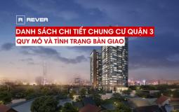 Thông tin tổng quan về quy mô và tình trạng bàn giao căn hộ chung cư Quận 3