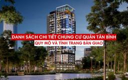 Thông tin tổng quan về quy mô và tình trạng bàn giao căn hộ chung cư Quận Tân Bình