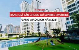 Trên sàn giao dịch hiện có những chung cư Sunrise Riverside nào, giá bán chi tiết
