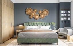 Bắt kịp xu hướng nội thất phòng ngủ hiện đại với giường ngủ bọc nệm