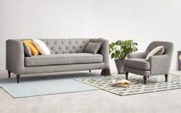 Tiết kiệm không gian cho căn phòng nhỏ, hẹp với sofa văng nỉ