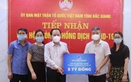 Tập đoàn Đất Xanh ủng hộ 5 tỷ cùng Bắc Giang chống dịch