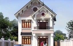 Mẫu nhà mái thái 2 tầng 5 phòng ngủ cho gia đình 3 thế hệ