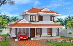 Thiết kế nhà vườn mái thái 2 tầng đẹp ở nông thôn