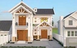 Tham khảo những mẫu nhà 2 tầng cửa gỗ sang trọng thu hút mọi ánh nhìn