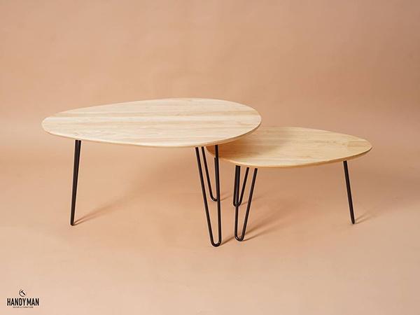 Đặc biệt phòng khách - Bàn trà chân sắt mặt gỗ hình vuông » Thông ...