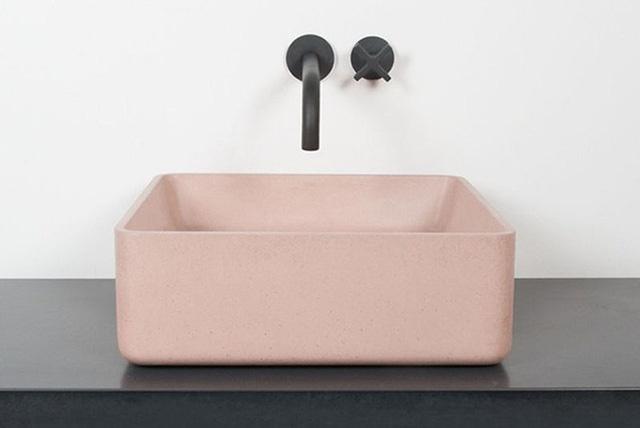Ấn tượng với bồn rửa tay xi măng: Thanh lịch mà độc đáo