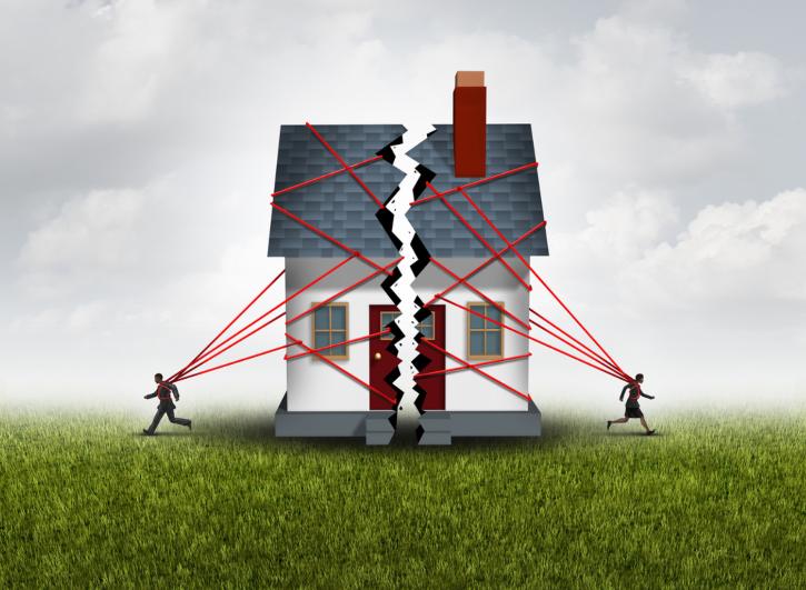 Quy định pháp luật mới nhất về chia nhà, đất khi ly hôn