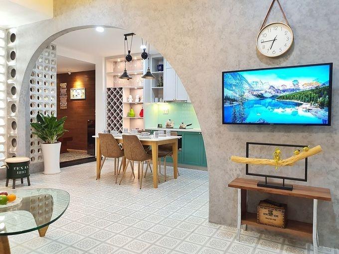 Hoán đổi vị trí các phòng, căn hộ 65m2 thoáng sáng gấp đôi