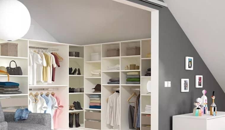 Ý tưởng thiết kế phòng thay đồ cực chất cho nhà nhỏ