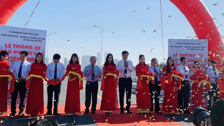 TP. Hồ Chí Minh: Cầu Phước Lộc, huyện Nhà Bè chính thức thông xe